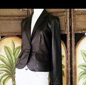 Super soft real leather jacket
